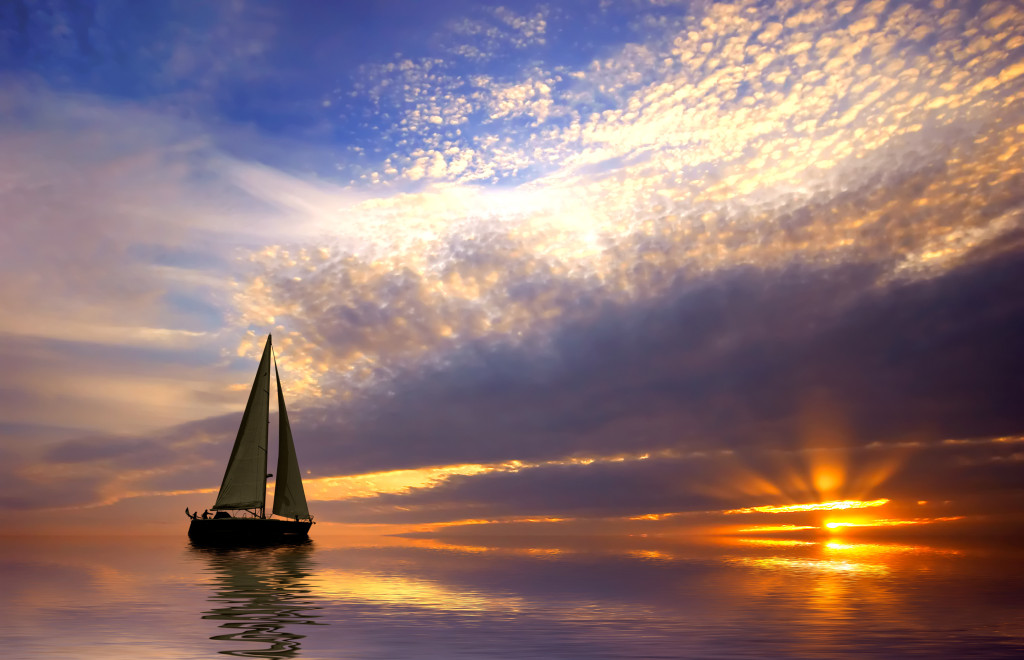 Life is a Boat at sunset